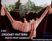 CROCHET PATTERN.282.. Baby Hammock Photo Prop, for a Knitted Version , see my pattern number 281