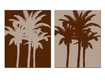 Palm Tree Art Palm Tree Decor Palm Tree Wall Art Palm Tree Bathroom Decor  Tropical Art