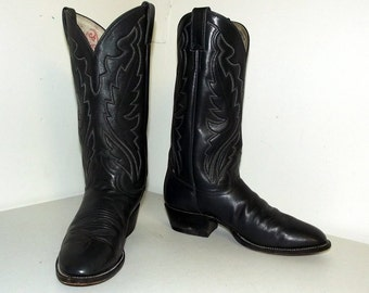 Gray Cowboy Boots - Justin brand - size 8 D or cowgirl size 9.5
