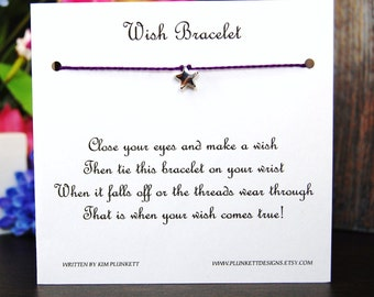 Sweet Little Star - Wish Bracelet - Shown In VINEYARD - Over 100 Different Colors Are Also Available