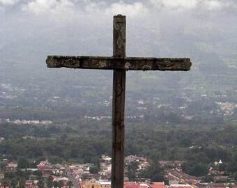 Antigua Guatemala Cross #6 Greeting Card-READY TO SHIP