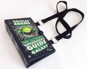 Ultimate Hitchhiker's Guide to the Galaxy Book Purse-Nerdy Chic Book Purse - Hitchhiker Messenger Bag