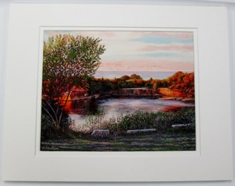 Limited Edition Print of the Babson Farm Quarry