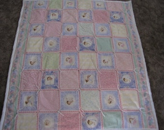 Hand Tied Baby Quilt  SALE