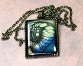 Starry Night One of a Kind Pendant Necklace Saturated in Blues n Golds
