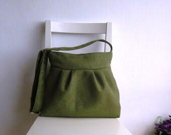 Olive Green Crossbody Messenger