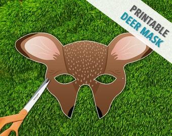 Deer Mask | Doe Mask | Halloween | Printable Photo Booth Prop