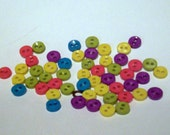 Assorted Small Buttons - Brightly Colored Primary Colors - Assorted Buttons - Craft Supply - Sewing Supply Buttons - Plastic Buttons