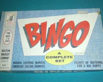 Vintage Bingo Game - Family Game - Milton Bradley Bingo Game - 1960 Bingo Game - Board Game - Family Game - Vintage Bingo Cards
