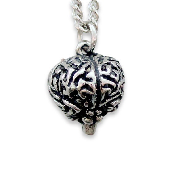 Two for One Sale...Anatomical Brain Necklace Silver Anatomical Brain Pendant Necklace 149