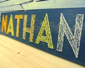 Modern String Art Wooden Name Tablet - 6 letters