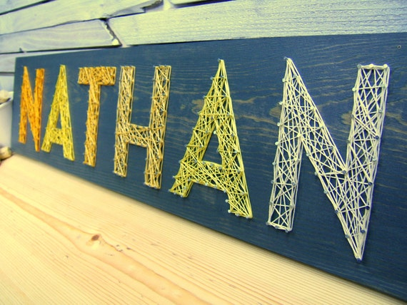 modern string art wooden name tablet 6 letters
