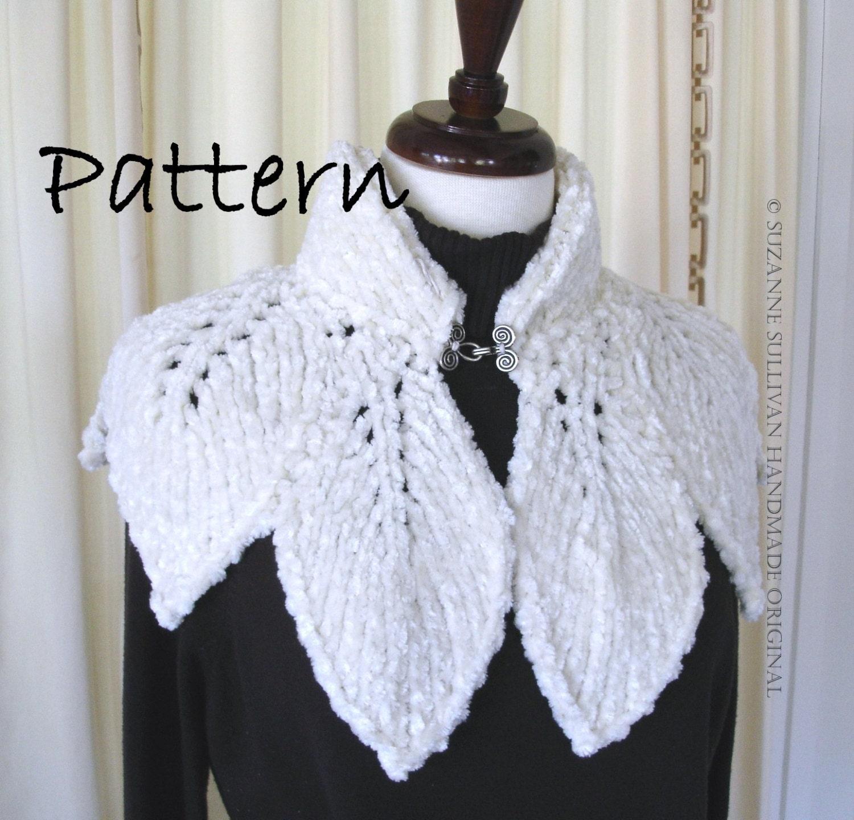 Capelet Knitting Patterns : PDF Leaf Capelet PDF Knitting Pattern Original Design