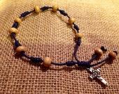 Handmade rosary bracelet