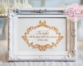 ORNATE BOY BAPTISM Printable 5x7 Welcome Sign - Blue and Brown