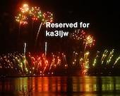 RESERVED for ka3ljw Fireworks Thunder Over Louisville No. 2 Fine Art Photograph 8 x 10 Print