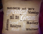 Some of my greatest blessing call me  - Wedding Gift with wedding Date - Names - Grandchildrend names Subway Typography Art