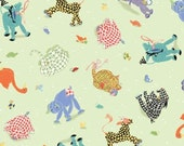 Patchwork Pals Multi Animal Tossed by Amy Brackiman for Red Rooster Fabrics