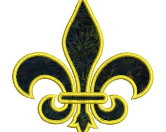 Applique Fleur De Lis 1 Color Machine Embroidery Designs Instant Download Sale 4x4 and 5x7