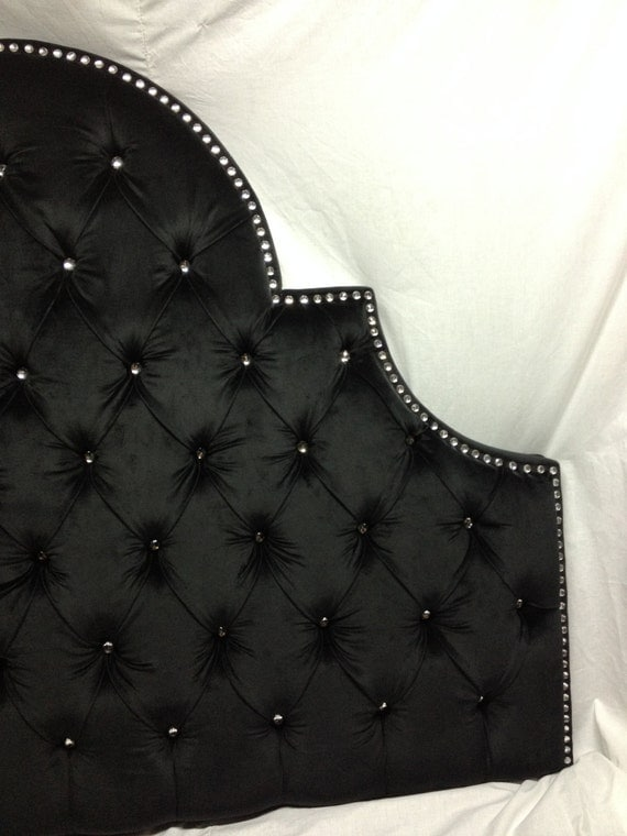 Night Sky Tufted Headboard With Rhinestones Queen