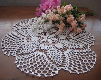 Hand crochet, white, doily,  made by Demet,FREESHIPPING