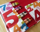 Coloring Wallet - Whats your number by Michael Miller, Crayons and Paper Included