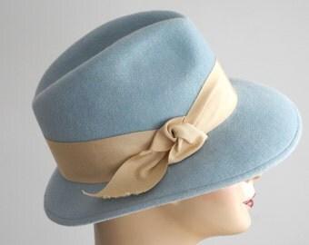 Pastel Blue Fedora Hat- Women-Spring Fashion- Fall Fashion- Spring Accessories- Fall Fashion