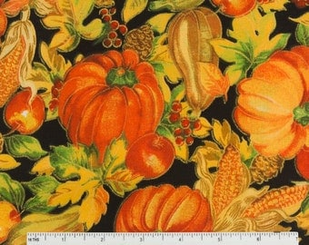 Fat Quarter, Autumn Fauna by Benartex, Harvest Fabric ...