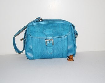 Vintage Messenger Blue Retro