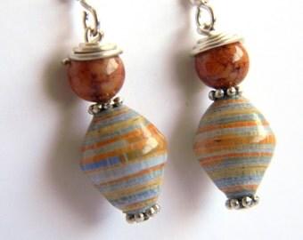 Paper Bead Jewelry - Earrings - #134