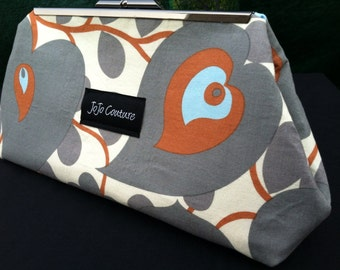 The Olive Clutch by JoJo Couture, in Amy Butler Morning Glory