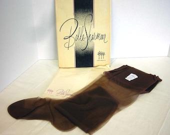 1950s Belle Sharmeer Demi Toe Seamless Brev 9 Nylon Stockings Boxed 3 pair Vintage