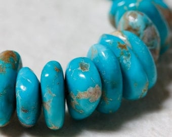 Turquoise Beads Large Nuggets 10mm - 14mm  -  Half Strand
