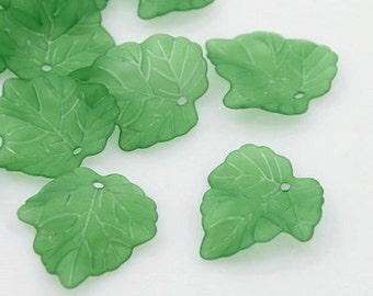 Frosted Green Leaves - 40 piece - #ACR104B