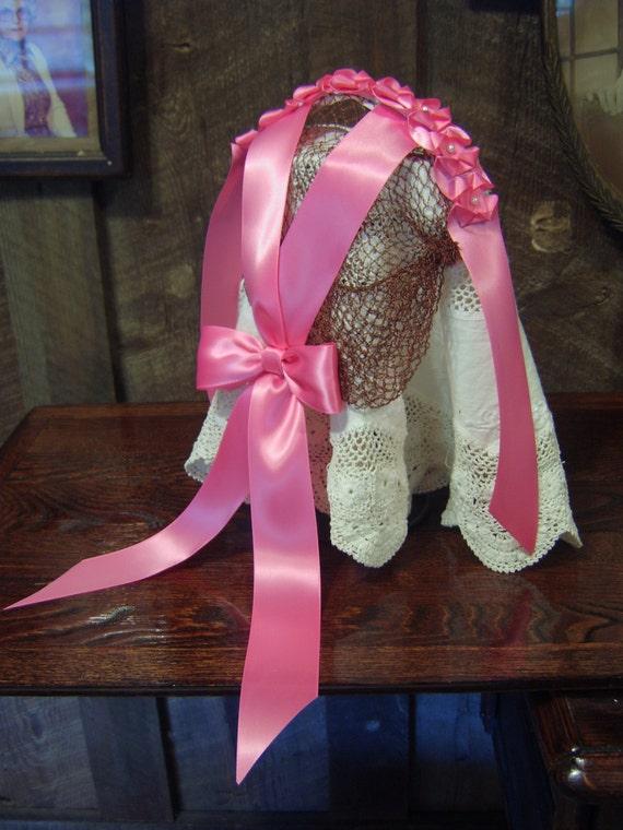 Civil War Reproduction Decorated Ribbon Hair Net