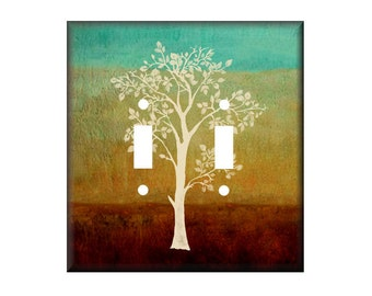 Tree of Life Double Light Switch Cover, Other Sizes Available