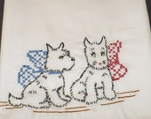 Mischievous Terriers  Dish Towel