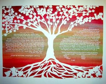 Fall Colors Maple Tree Ketubah