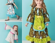 GIRL CLOTHES PATTERN / Make Boutique Style Dress / Sizes 1/2 to  Or 4 To 8