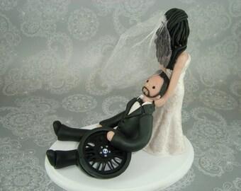 Bride Dragging Groom Customized Wedding Cake Topper