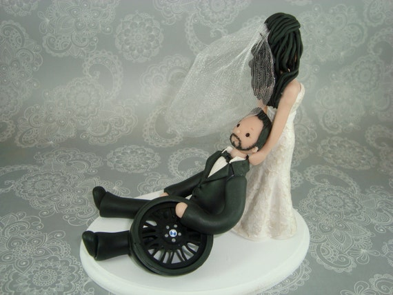 bride dragging groom wedding cake toppers dragging groom customized wedding cake topper 12132