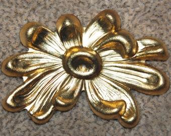 Vintage 4 Art Deco Crysanthemum Findings 38X27MM P2R