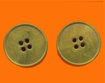 Vintage 2 Art Deco Tan Marbled  28mm Fancy Buttons N6R 4