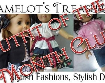 18 inch Doll Clothes - Outfit of the Month - 3 MONTHS - fits American Girl