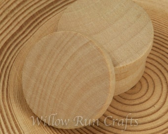 100 Pack 1 inch Wood Circle Disc with Straight Edge (23-20-152)
