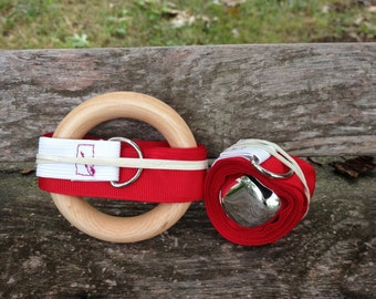 Gift Set of 2 Montessori Baby Mobiles in Red (Bell and Ring)