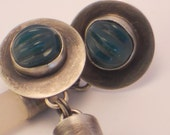 Saharan plugs on green onyx earrings