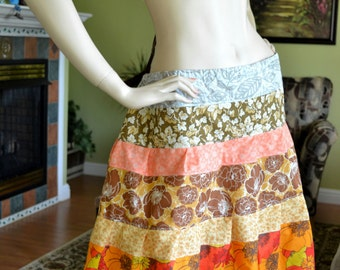 Gypsy Hippie Patchwork Skirt