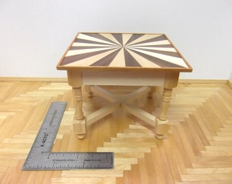 Miniature Table With Inlaid Top