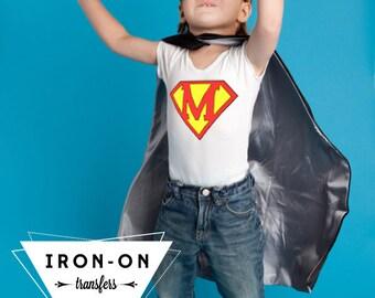 Instant Download Superhero Iron-On Transfer Alphabet Lettering Super Hero Costume DIY Printable